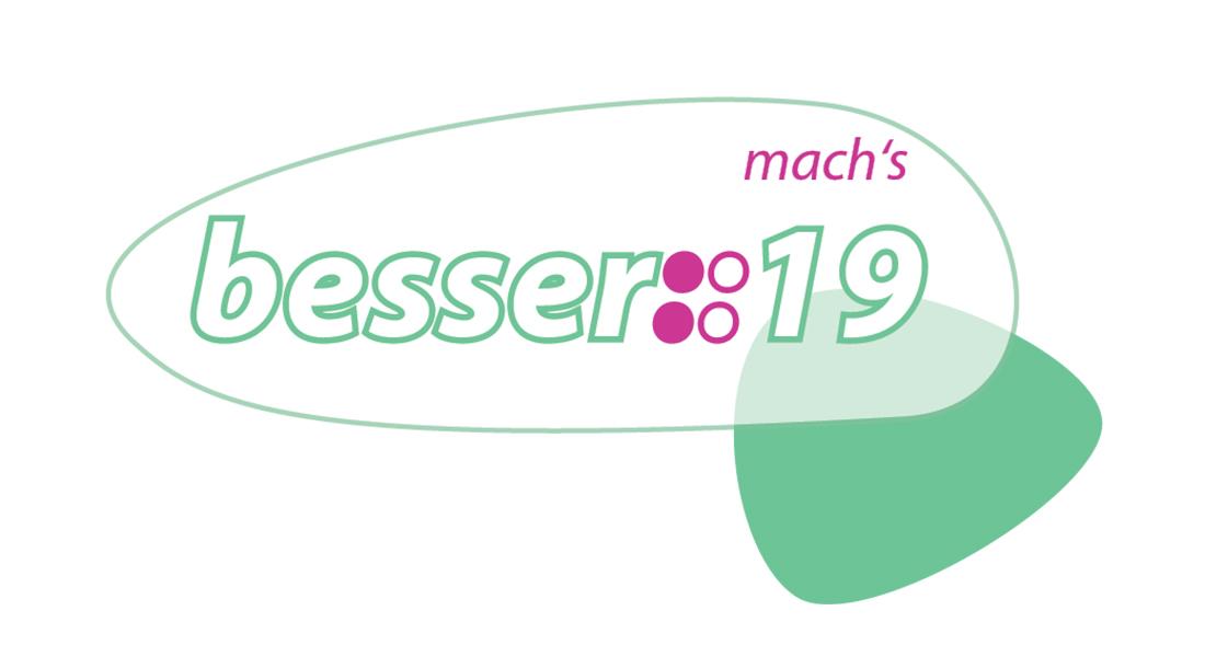 Das Logo des besser-Kongress 2019 in grün und magenta.